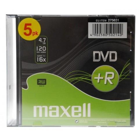 MAXELL DVD+R 4.7GB 16x speed 5er Jewelcase