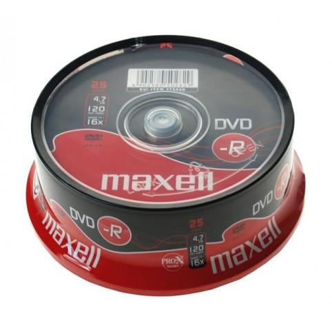 MAXELL DVD-R 4.7GB 16x speed 25er Spindel