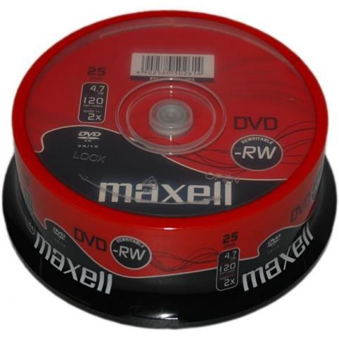 MAXELL DVD-RW überschreibbar 4.7GB 2x Speed 25er Spindel