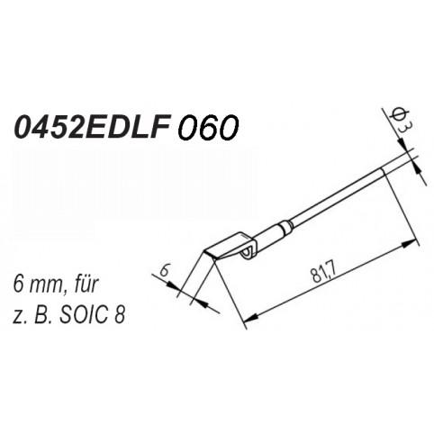 ERSA Entlötspitzen-Satz gerade 6,0 mm für Entlötpinzette Chip-Tool
