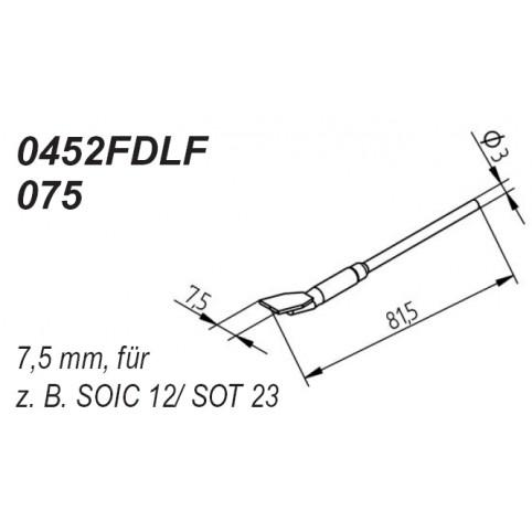 ERSA Entlötspitzen-Satz gerade 7,5 mm für Entlötpinzette Chip-Tool