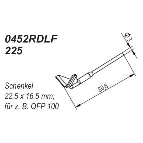 ERSA Entlötspitzen-Satz mit Schenkel 22,5 x 16,5 mm im 90° Winkel