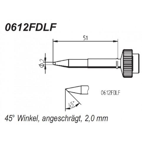 ERSA Lötspitze gerade angeschrägt 2,0 mm für DIGITAL2000A/DIGITAL60A