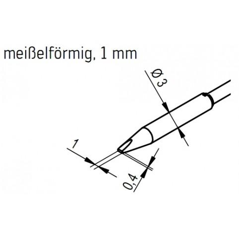 ERSA Entlötspitzen-Satz meißelförmig 1 mm für Chip-Tool Vario