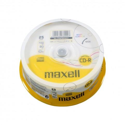 MAXELL CD-R 80 XL 52x speed 700MB 25er Spindel bedruckbar