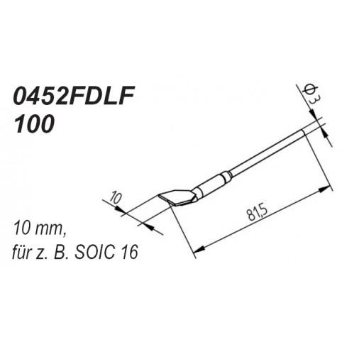 ERSA Entlötspitzen-Satz gerade 10,0 mm für Entlötpinzette Chip-Tool