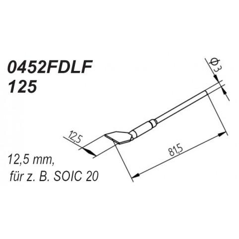 ERSA Entlötspitzen-Satz gerade 12,5 mm für Entlötpinzette Chip-Tool