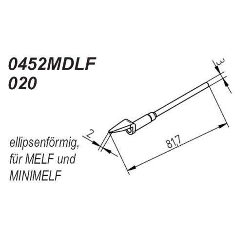 ERSA Entlötspitzen-Satz ellipsenförmig 2,0 mm für Chip-Tool