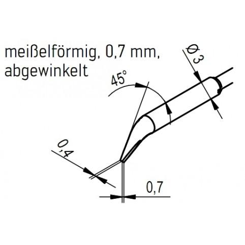 ERSA Entlötspitzen-Satz abgewinkelt meißelförmig 0,7 mm