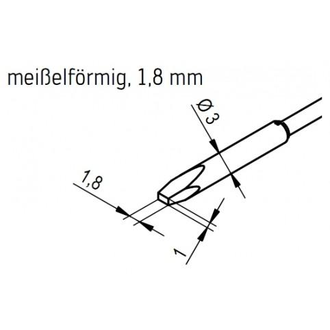ERSA Entlötspitzen-Satz meißelförmig 1,8 mm für Chip-Tool Vario
