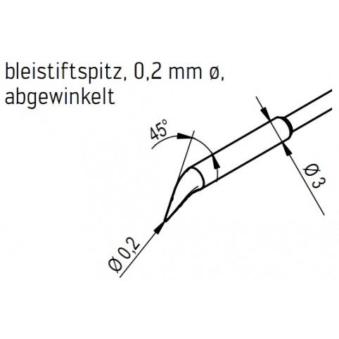 ERSA Entlötspitzen-Satz bleistiftspitz abgewinkelt 0,2 mm