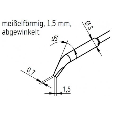 ERSA Entlötspitzen-Satz abgewinkelt meißelförmig 1,5 mm