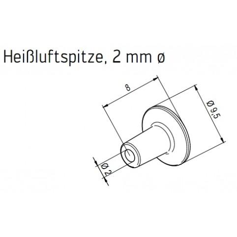 ERSA Heißluftspitze 2,0 mm für Heißluftkolben i-Tool AIR S