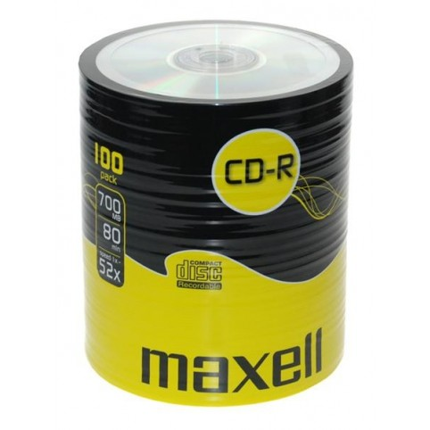 MAXELL CD-R 80 XL 52x speed 700MB 100er Bulk/shrink
