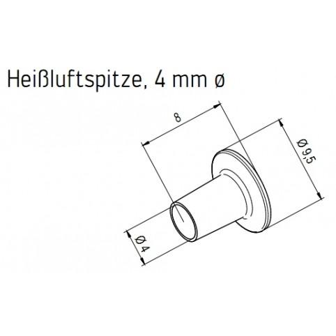 ERSA Heißluftspitze 4,0 mm Heißluftkolben für i-Tool AIR S