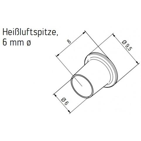 ERSA Heißluftspitze 6,0 mm für Heißluftkolben i-Tool AIR S