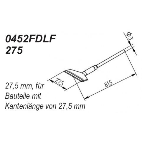 ERSA Entlötspitzen-Satz gerade 27,5 mm für Entlötpinzette Chip-Tool