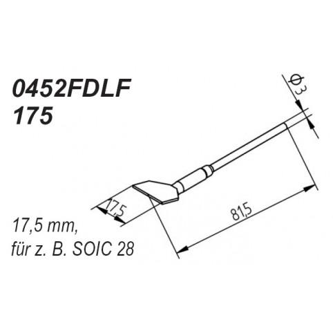 ERSA Entlötspitzen-Satz gerade 17,5 mm für Entlötpinzette Chip-Tool
