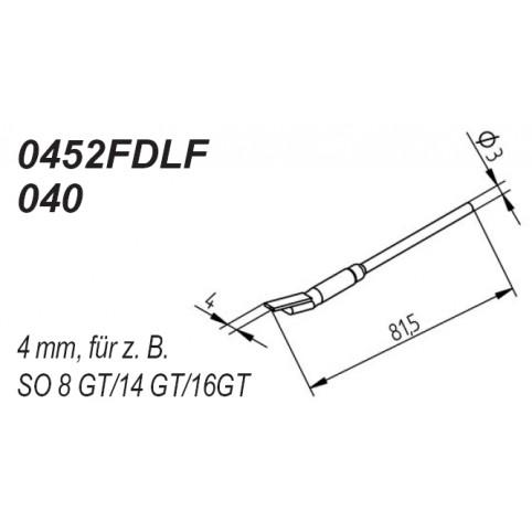 ERSA Entlötspitzen-Satz gerade 4,0 mm für Entlötpinzette Chip-Tool