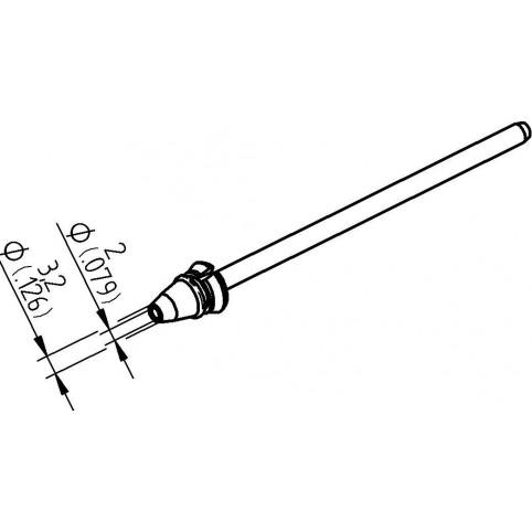 ERSA Entlötspitze für X-Tool Vario Durchmesser innen 2,0 mm außen 3,2 mm hochverzinnt