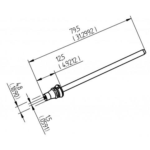 ERSA Entlötspitze für X-Tool Vario Durchmesser innen 1,5 mm außen 4,8 mm hochverzinnt
