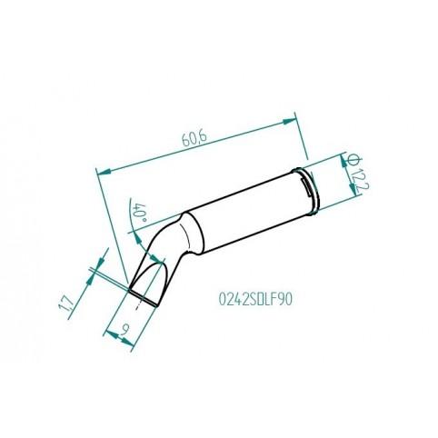 ERSA ERSADUR Lötspitze für i-Tool HighPower gebogen meißelförmig 9 mm 0242SDLF90
