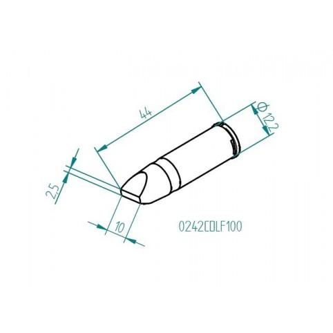 ERSA ERSADUR Lötspitze für i-Tool HighPower gerade meißelförmig 10 mm 0242CDLF100