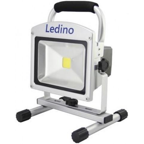 Ledino LED-Akku-Arbeitsleuchte aus Alu Druckguss mit Magnetfüssen 20 Watt