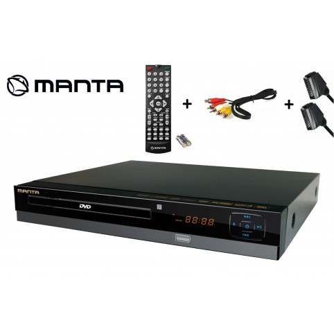 Manta DVD064S DVD-Player SCART, USB , Cinch inkl. SCART & Cinch-Kabel