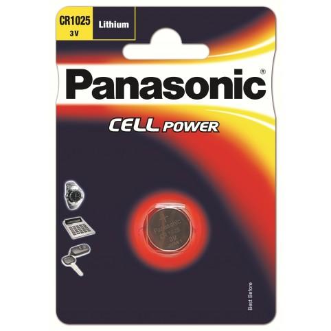 Panasonic CR1025 3V Lithium Knopfzelle 1er Blister