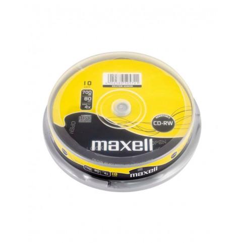 MAXELL CD-RW 80 überschreibbar 700MB 1x-4x speed 10er Spindel