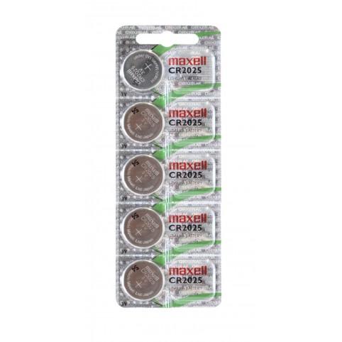 MAXELL Lithium Knopfzelle CR2025 5er Blister