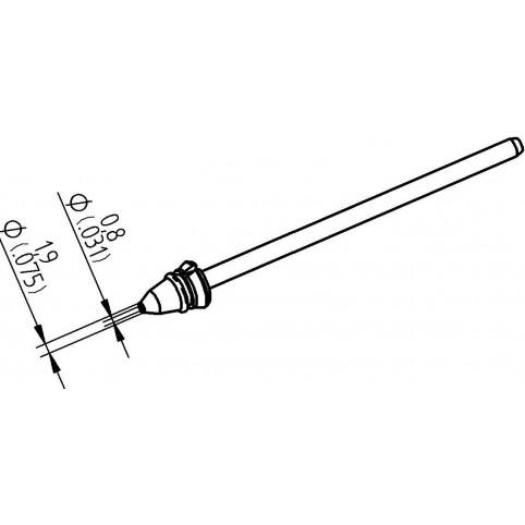 ERSA Entlötspitze für X-Tool Vario, Durchmesser innen 0,8 mm außen 1,9 mm hochverzinnt