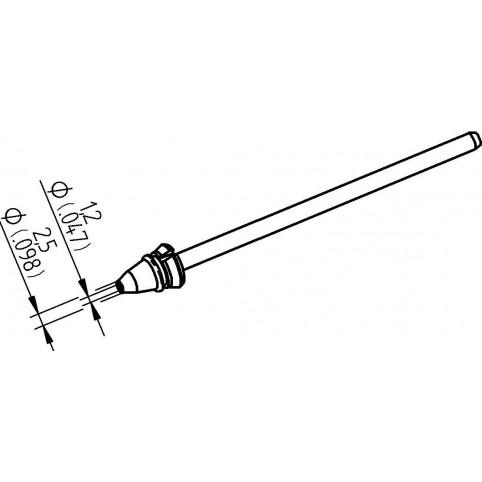ERSA Entlötspitze für X-Tool Vario Durchmesser innen 1,2 mm außen 2,5 mm hochverzinnt