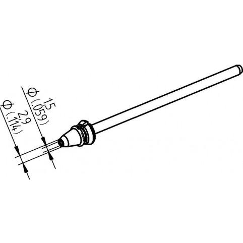 ERSA Entlötspitze für X-Tool Vario Durchmesser innen 1,5 mm außen 2,9 mm hochverzinnt
