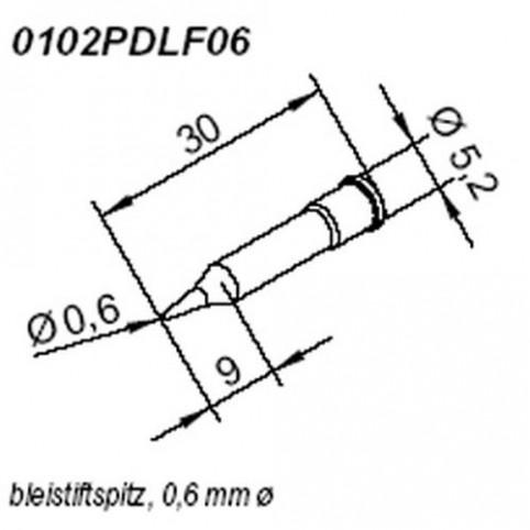 ERSA ERSADUR Lötspitze für i-Tool gerade bleistiftspitz 0,6 mm
