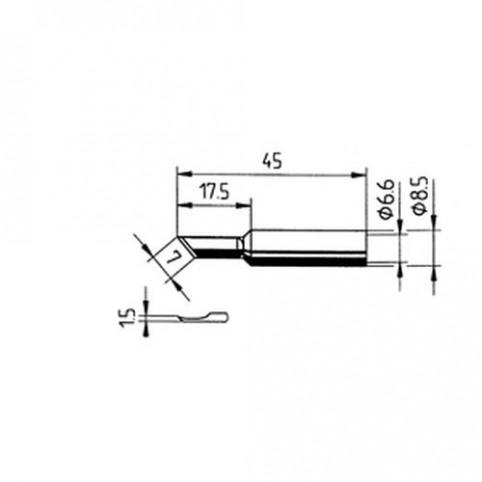 ERSA Lötspitze PLCC-Messer gerade 1,5 mm für RDS80/Analog 60/MULTI-TC uvm