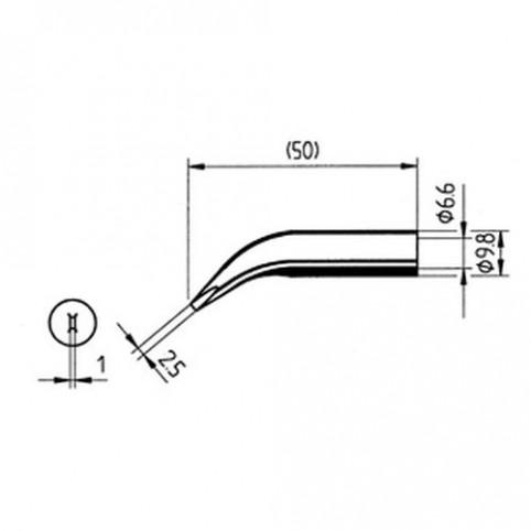 ERSA Lötspitze abgewinkelt meißelförmig 2,5 mm für RDS80/Analog60/uvm.
