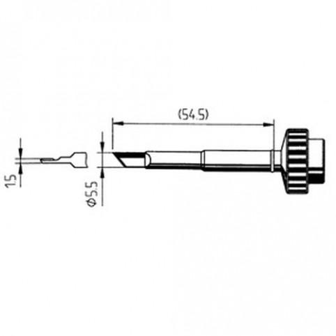 ERSA ERSADUR Lötspitze gerade PLCC-Blade 1,5 mm für DIGITAL2000A/60A