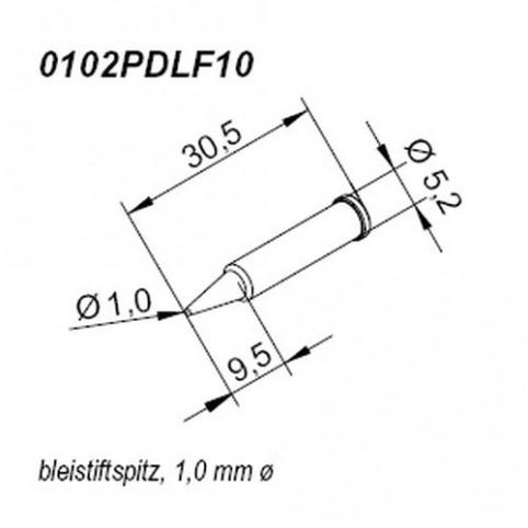 ERSA ERSADUR Lötspitze für i-Tool gerade bleistiftspitz 1mm