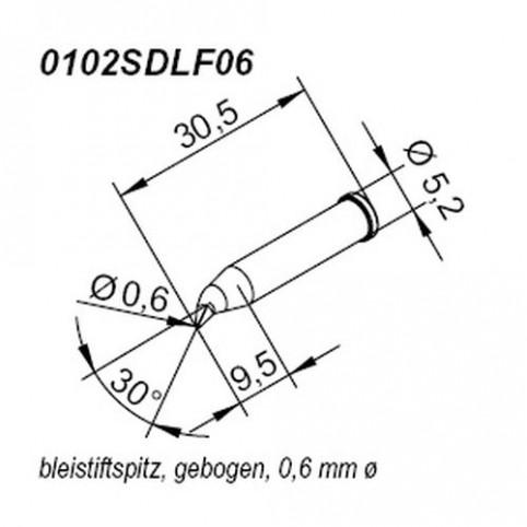 ERSA ERSADUR Lötspitze für i-Tool gebogen bleistiftspitz 0,6 mm