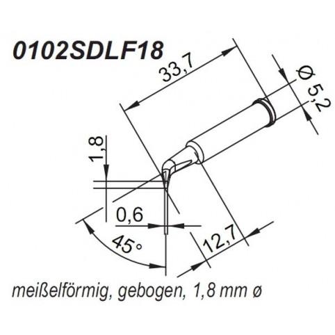 Ersa ERSADUR Lötspitze für i-Tool gebogen meißelförmig 1,8 mm