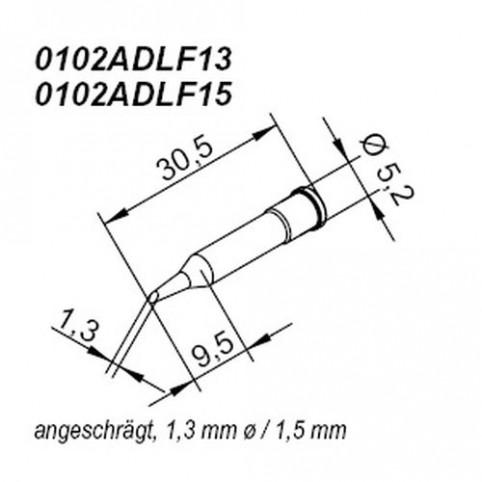 ERSA ERSADUR Lötspitze für i-Tool gerade angeschrägt 1,5 mm