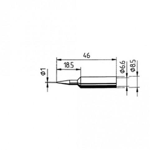 ERSA Lötspitze gerade bleistiftspitz 1 mm für RDS80/Analog 60/MULTI-TC