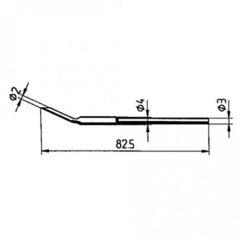 ERSA Entlötspitzen-Satz ellipsenförmig 2,0 mm für Entlötpinzette Chip-Tool