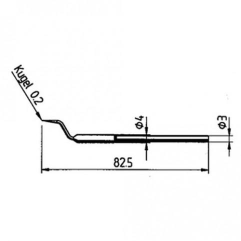 ERSA Entlötspitzen-Satz spitz 0,2 mm für Entlötpinzette Chip-Tool uvm.