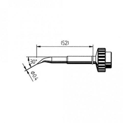 ERSA Lötspitze abgewinkelt bleistiftspitz 0,4 mm für DIGITAL2000A/60A