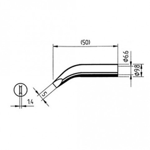 ERSA Lötspitze abgewinkelt meißelförmig 5 mm für RDS80/Analog60/Multi-TC
