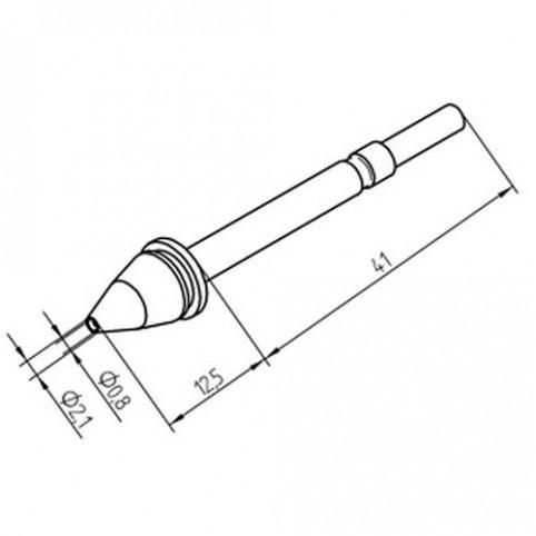 ERSA Entlötspitze für X- Tool Durchmesser innen 0,8 mm / außen 2,1 mm