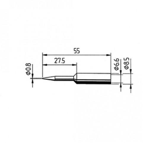 ERSA Lötspitze gerade verlängert bleistiftspitz 0,8 mm für RDS80/Analog60